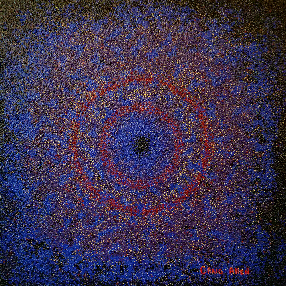 "Brightness Lies Within - 24"" x 24"" Acrylic on Canvas 2013"