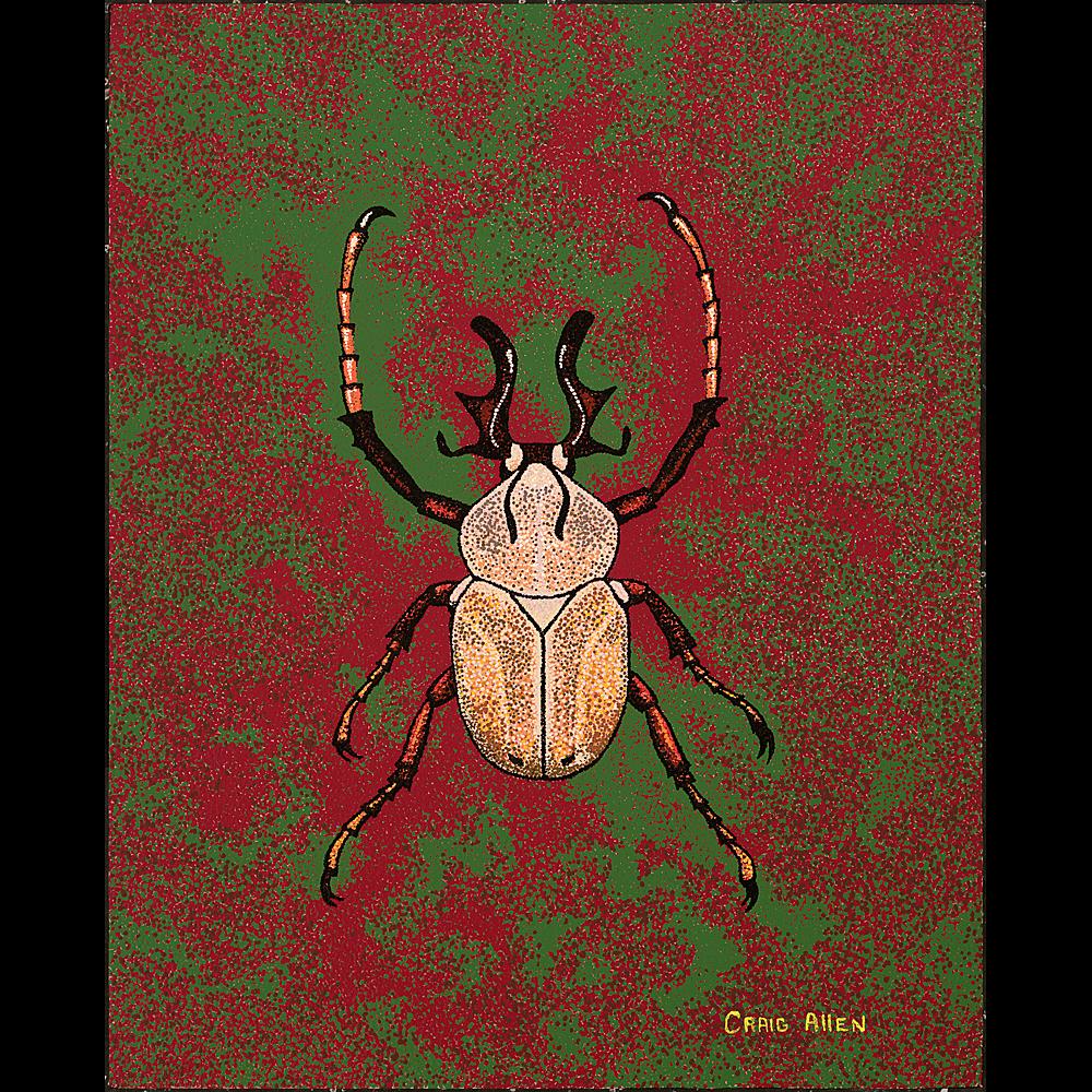 """Dicranocephalus Wallichi - 24"""" x 30"""" Acrylic on Canvas 2013"""