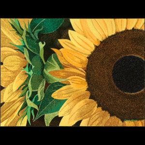 "Sunflower Sutra # 2 - 30"" x 40"" Acrylic on Canvas 2014"