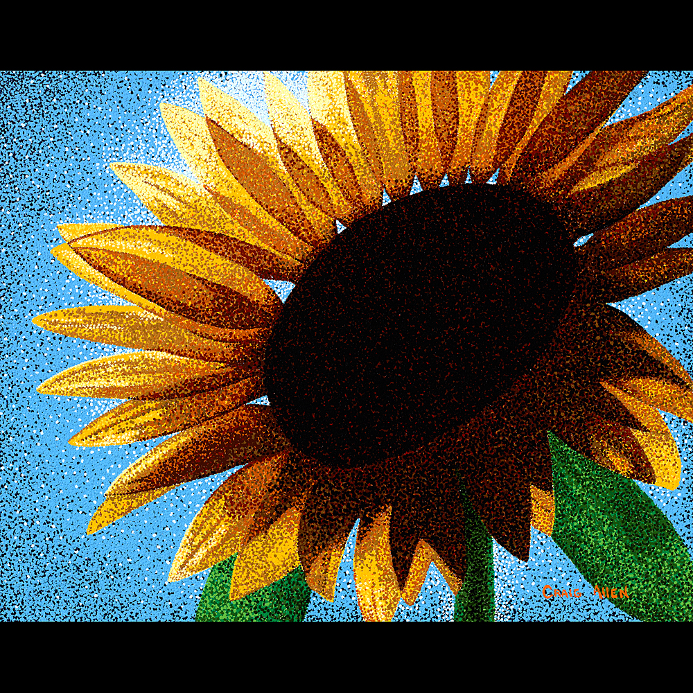 "Sunflower Sutra # 1 24"" x 30"" Acrylic on Canvas 2012"