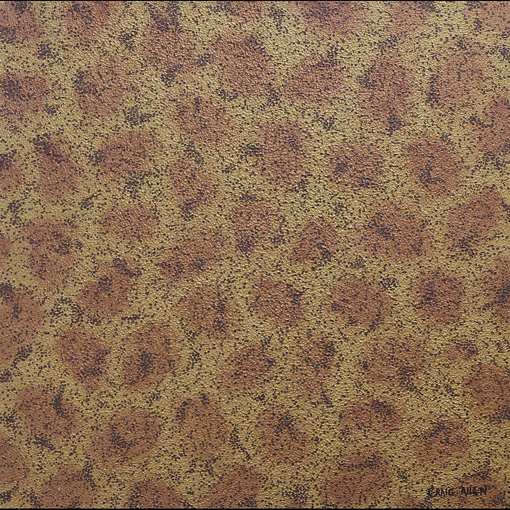 "The Animal Has Spots; Finding Patterns - 24"" x 24"" Acrylic, Textural Medium on Canvas 2006"
