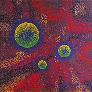 "Cellular Systems #2 - 12"" x 12"" Acrylic, Textural Medium on Canvas"
