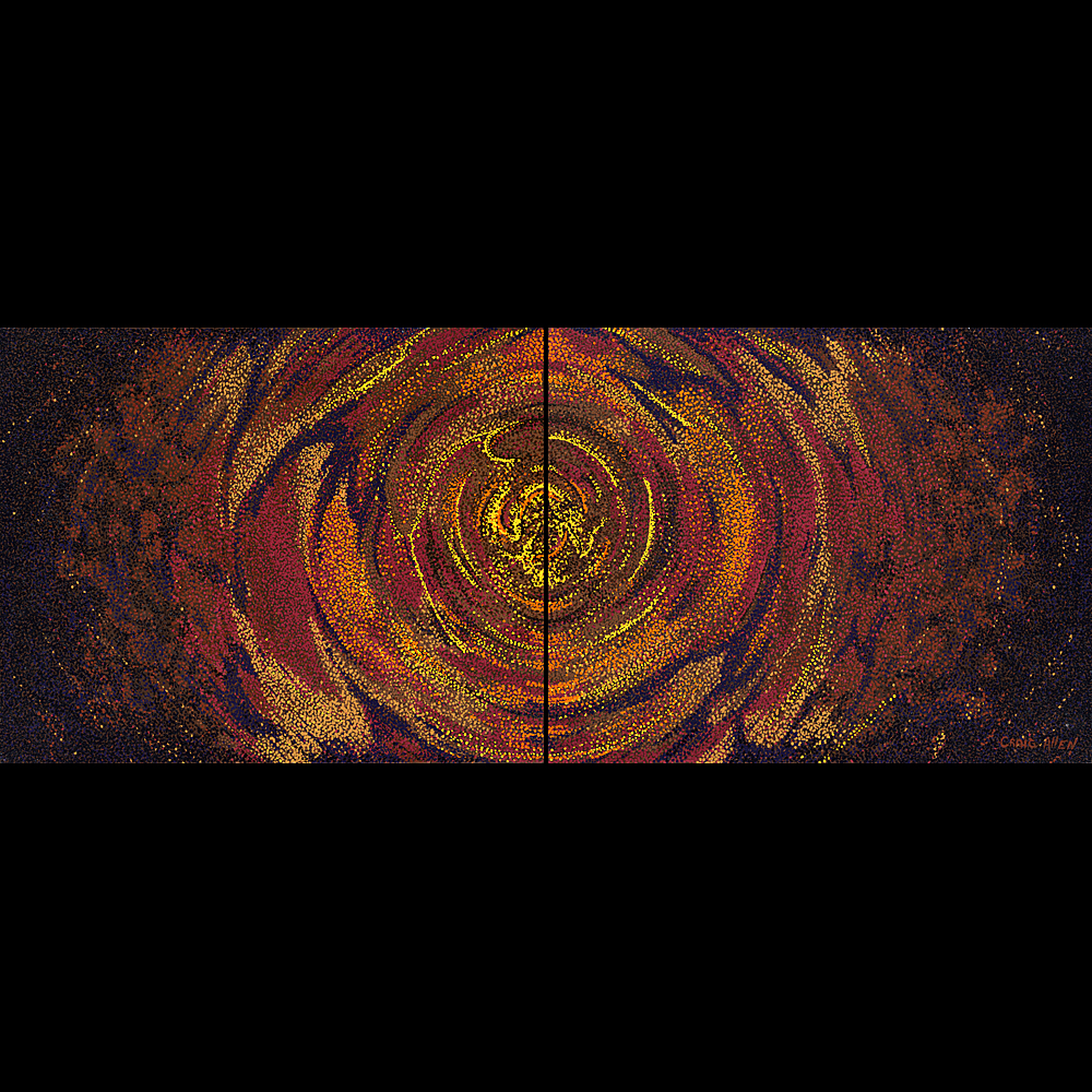 "Lost; I'm at a Loss - 24"" x 60"" Diptych Acrylic on Canvas 2010"