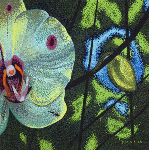 "Flower; Orchid - 20"" x 20"" Acrylic on Canvas"