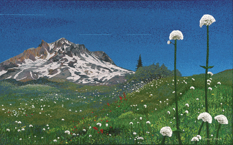 "Mt Hood from Paradise Park - 30"" x 48"" Acrylic on Canvas 2015"