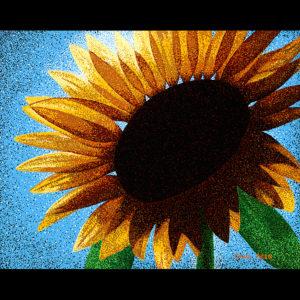 """Sunflower Sutra # 1 24"""" x 30"""" Acrylic on Canvas 2012"""