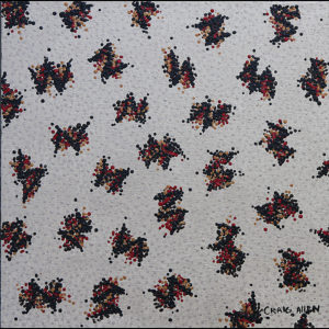 "Organically Evolving #3 - 12"" x 12"" Acrylic on Canvas 2009"